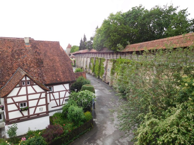 Walking the walls of Rothenburg
