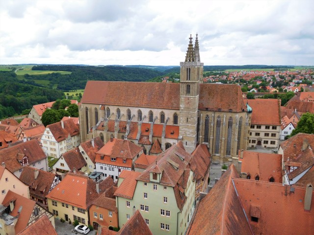 View of St. Jakob's Church from the Rathaus tower
